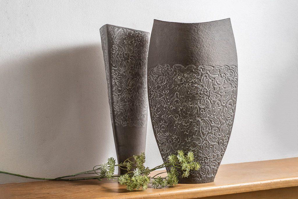 Steunzeug zwei Vasen Keramik Werkstatt Judith Smetana Lengenwang Luttenried im Allgäu Ostallgäu bei Füssen