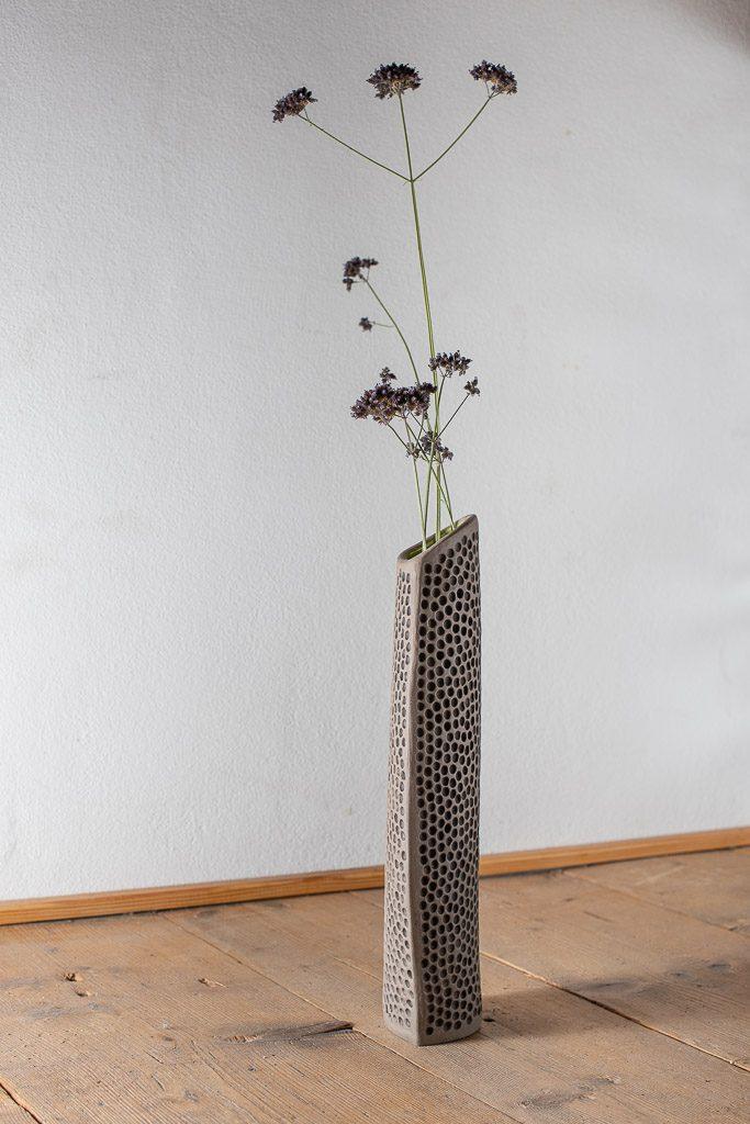 Steunzeug Vase Keramik Werkstatt Judith Smetana Lengenwang Luttenried im Allgäu Ostallgäu bei Füssen